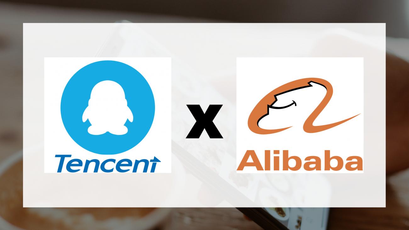 Penguin Tencent logo from dwglogo, Alibaba and Tencent logo from worldvectorlogo, Templates from Canva